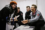 Marcel Kittel (GER) and Team Katusha Alpecin team mates sign autographs for fans before the 2018 Shanghai Criterium, Shanghai, China. 16th November 2018.<br /> Picture: ASO/Pauline Ballet | Cyclefile<br /> <br /> <br /> All photos usage must carry mandatory copyright credit (© Cyclefile | ASO/Pauline Ballet)