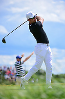 Paul Casey (GBR) watches his tee shot on 7 during Sunday's round 4 of the 117th U.S. Open, at Erin Hills, Erin, Wisconsin. 6/18/2017.<br /> Picture: Golffile | Ken Murray<br /> <br /> <br /> All photo usage must carry mandatory copyright credit (&copy; Golffile | Ken Murray)
