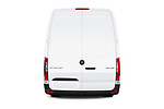 Straight rear view of a 2019 Mercedes Benz Sprinter Cargo Van Base 4 Door Cargo Van stock images