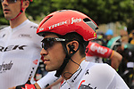 Alberto Contador (ESP) Trek-Segafredo before the start of Stage 2 of the 104th edition of the Tour de France 2017, running 203.5km from Dusseldorf, Germany to Liege, Belgium. 2nd July 2017.<br /> Picture: Eoin Clarke | Cyclefile<br /> <br /> <br /> All photos usage must carry mandatory copyright credit (&copy; Cyclefile | Eoin Clarke)