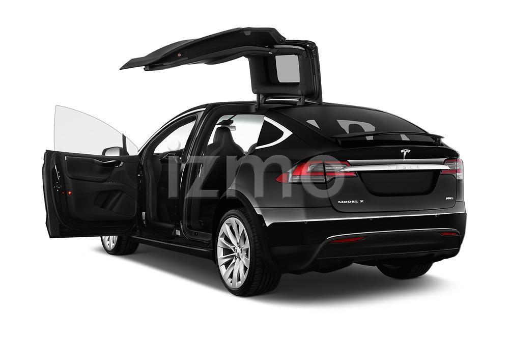 Car images close up view of a 2019 Tesla Model X 100D 5 Door SUV doors