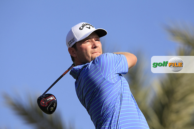 Branden GRACE (RSA) tees off the 11th tee during Thursday's Round 2 of the 2015 Commercial Bank Qatar Masters held at Doha Golf Club, Doha, Qatar.: Picture Eoin Clarke, www.golffile.ie: 1/22/2015