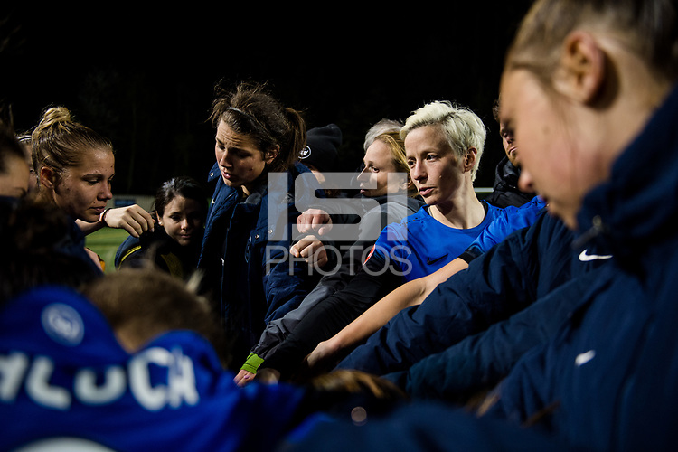 Seattle, WA - April 15th, 2017: Seattle Reign FC following a regular season National Women's Soccer League (NWSL) match between the Seattle Reign FC and Sky Blue FC at Memorial Stadium.