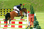 EQUESTRIAN SHOW JUMPING AT SPRUCE MEADOWS, CALGARY, ALBERTA, CANADA