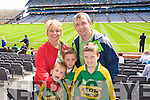 Michael, Siobhain, Barry, Peter and Peader Keane Beaufort Supporting Kerry at Croke park on Sunday.