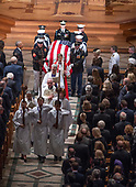Recessional ending the memorial service for the late United States Senator John S. McCain, III (Republican of Arizona) in the Washington National Cathedral in Washington, DC on Saturday, September 1, 2018.<br /> Credit: Ron Sachs / CNP<br /> <br /> <br /> (RESTRICTION: NO New York or New Jersey Newspapers or newspapers within a 75 mile radius of New York City)