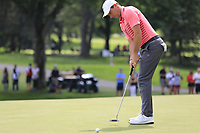 Rory McIlroy (NIR) birdie putt on the 9th green during Saturday's Round 3 of the WGC Bridgestone Invitational 2017 held at Firestone Country Club, Akron, USA. 5th August 2017.<br /> Picture: Eoin Clarke | Golffile<br /> <br /> <br /> All photos usage must carry mandatory copyright credit (&copy; Golffile | Eoin Clarke)