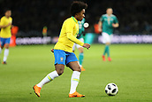 27th March 2018, Olympiastadion, Berlin, Germany; International Football Friendly, Germany versus Brazil; Willian (Brazil) in action
