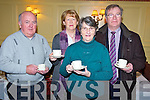 Pictured at the Recovery Haven coffee morning held in the Arbutas Hotel, Killarney on Friday morning were JJ Harty, Kathleen Foley, Sr Caitriona Leonard and John Doyle.
