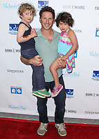 LOS ANGELES, CA, USA - APRIL 27: Frisco Feuerstein, Mark Feuerstein, Addie Feuerstein at the Milk + Bookies 5th Annual Story Time Celebration held at the Skirball Cultural Center on April 27, 2014 in Los Angeles, California, United States. (Photo by Xavier Collin/Celebrity Monitor)