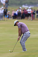 Ryan Fox (NZL) plays his 2nd shot on the playoff hole 18 during Sunday's Final Round of the 2018 Dubai Duty Free Irish Open, held at Ballyliffin Golf Club, Ireland. 8th July 2018.<br /> Picture: Eoin Clarke   Golffile<br /> <br /> <br /> All photos usage must carry mandatory copyright credit (&copy; Golffile   Eoin Clarke)