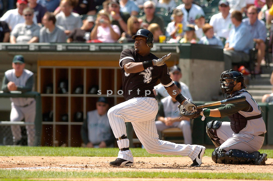 JUAN URIBE, of the Chicago White Sox, in action against the Tampa Bay Devil Rays, on August 31, 2006 in Chicago, IL..Devil Rays  win 5-3....David Durochik / SportPics