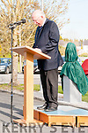 The O'Rahilly  Commemoration : Michael O'Rahilly of the O'Rahilly family addressing the crowd  at the The ORahilly ceremony in Ballylongford on Saturday evenimg last.