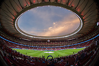 General view of Wanda Metropolitano Stadium before the match between Atletico Madrid and Chelsea in Madrid, on September 27th 2017.
