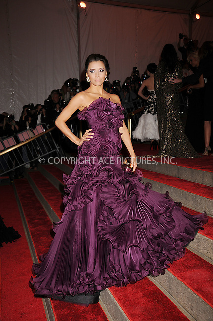 WWW.ACEPIXS.COM . . . . . ....May 5 2008, New York City....Actress Eva Longoria Parker arriving at the Metropolitan Museum of Art Costume Institute Gala, Superheroes: Fashion and Fantasy, held at the Metropolitan Museum of Art on the Upper East Side of Manhattan.....Please byline: KRISTIN CALLAHAN - ACEPIXS.COM.. . . . . . ..Ace Pictures, Inc:  ..(646) 769 0430..e-mail: info@acepixs.com..web: http://www.acepixs.com