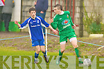 Kingdom Boys Adam Pigott and Killarney Athletic's Cillian Fitzgerald..