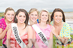 FESTIVAL QUEEN: Going for the title of Ballyheigue Festival Queen on Sunday, l-r:.Brenda Lawlor (White Sands Hotel), Lucy O'Connor (Costcutters), Kathleen Hehir (Marian.Park), Stacey Reidy (Londis) and Anne Marie Reidy (Godleys Day Break). Missing.were Marie O'Mahony (Kirby's Bar), Liz Dineen (Huckleberrys) and Siobhan Horgan.(Brassils Pharmacy).