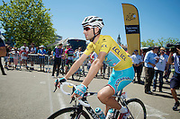 Vincenzo Nibali (ITA/Astana) to the start<br /> <br /> 2014 Tour de France<br /> stage 12: Bourg-en-Bresse - Saint-Eti&egrave;nne (185km)