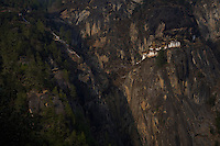 Taktsang Monastery or the Tigers Nest near Paro, Bhutan at 3200 meters.