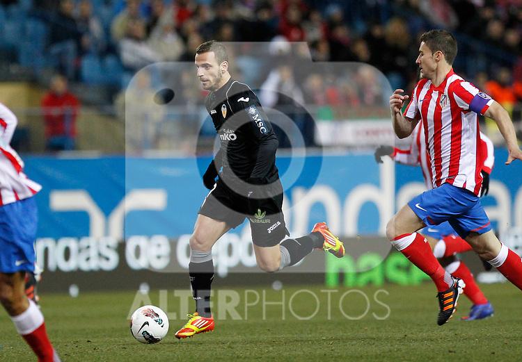 Madrid (05/02/2012) LIGA BBVA.Atletico de Madrid- Valencia C.F...SOLDADO, GABI.....
