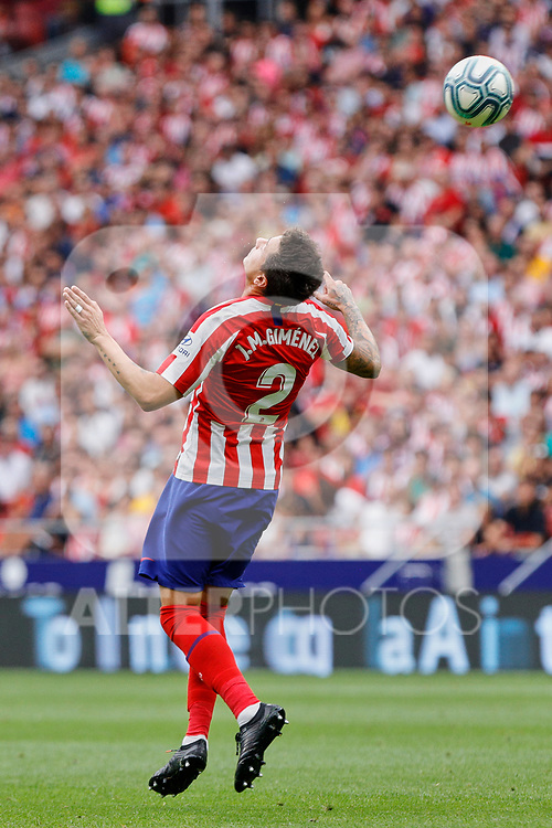 Jose Maria Gimenez of Atletico de Madrid in action during La Liga match between Atletico de Madrid and SD Eibar at Wanda Metropolitano Stadium in Madrid, Spain.September 01, 2019. (ALTERPHOTOS/A. Perez Meca)