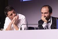 Roma, 14 Dicembre 2014<br /> Assemblea nazionale del Partito Democratico.<br /> Matteo Renzi e Matte Orfini durante l'intervento di Gianni Cuperlo