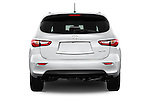 Straight rear view of a 2014 Infiniti QX60
