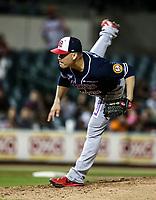 Eddie Gamboa pitcher abridor de los mayos, durante juego de beisbol de la Liga Mexicana del Pacifico temporada 2017 2018. Quinto juego de la serie de playoffs entre Mayos de Navojoa vs Naranjeros. 6Enero2018. (Foto: Luis Gutierrez /NortePhoto.com)