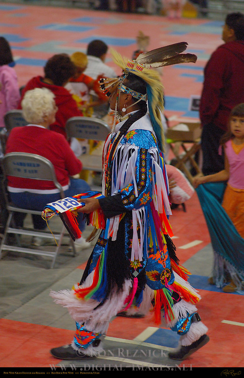 Grass Dancer and Regalia, Red Rock Pow Wow, Panguitch, Utah