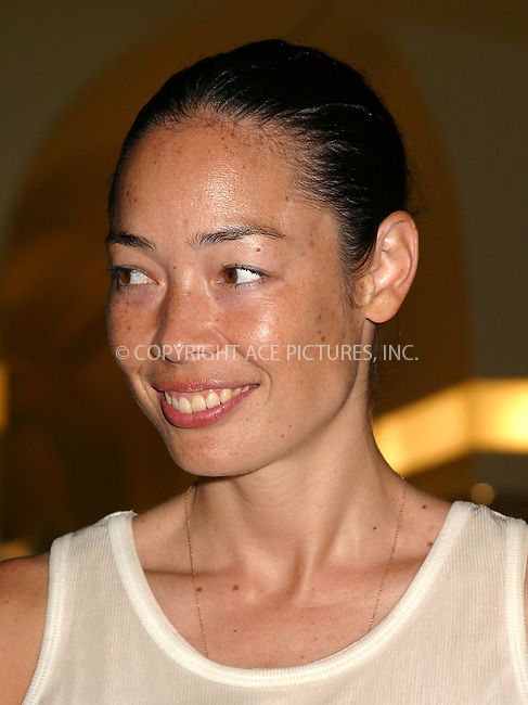 Editor Celia Dean at Alexander McQueen New York store opening in New York's Meatpacking District. September 5, 2002. Please byline: Alecsey Boldeskul/NY Photo Press.   ..*PAY-PER-USE*      ....NY Photo Press:  ..phone (646) 267-6913;   ..e-mail: info@nyphotopress.com