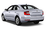 Car pictures of rear three quarter view of a 2017 Skoda Octavia Ambition 5 Door Hatchback angular rear