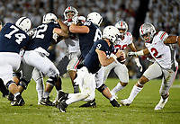 STATE COLLEGE, PA - SEPTEMBER 29: Penn State QB Trace McSorley (9) scrambles away from Ohio State DE Chase Young (2). The Ohio State Buckeyes defeated the Penn State Nittany Lions 27-26 on September 29, 2018 at Beaver Stadium in State College, PA. (Photo by Randy Litzinger/Icon Sportswire)