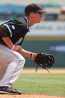The Coastal Carolina University Chanticleers third baseman Scott Woodward #10 playing his position during the 2nd and deciding game of the NCAA Super Regional vs. the University of South Carolina Gamecocks on June 13, 2010 at BB&T Coastal Field in Myrtle Beach, SC.  The Gamecocks defeated Coastal Carolina 10-9 to advance to the 2010 NCAA College World Series in Omaha, Nebraska. Photo By Robert Gurganus/Four Seam Images