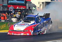 Feb 6, 2015; Pomona, CA, USA; NHRA funny car driver Robert Hight during qualifying for the Winternationals at Auto Club Raceway at Pomona. Mandatory Credit: Mark J. Rebilas-