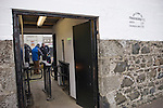Supporters at the turnstile at Bellslea Park, home of Fraserburgh FC, prior to the club's Highland League fixture against visitors Strathspey Thistle. Nicknamed 'The Broch,' Fraserburgh have been members of the Highland League since 1921 having been formed 11 years earlier. The match ended in a 2-2 draw in front of a crowd of 302.