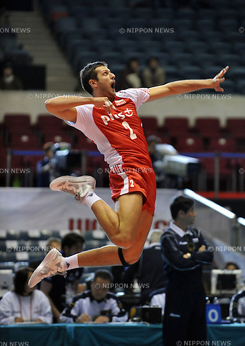 December 2nd, 2011 : Tokyo, Japan - FIVB Men's World Cup 2011 Poland VS ltaly holds at the Yoyogi Gymnasium, Tokyo, Japan.