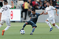 Los Angeles, CA - Sunday May 13, 2018: Los Angeles FC and New York City FC played to a 2-2 draw in a Major League Soccer (MLS) regular season game at Banc of California Stadium.