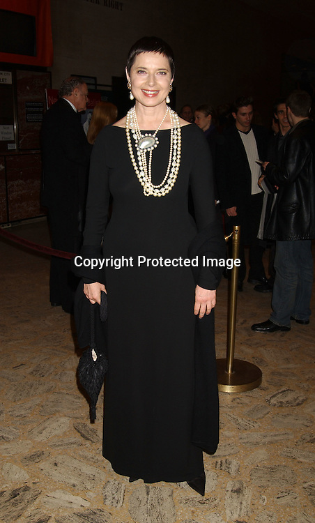 Isabella Rossellini                                                          ..at the New York City Ballet opening Night of the 2003-2004 Season on November 25, 2003 at the New York State Theatre . Photo by Robin Platzer, Twin Images
