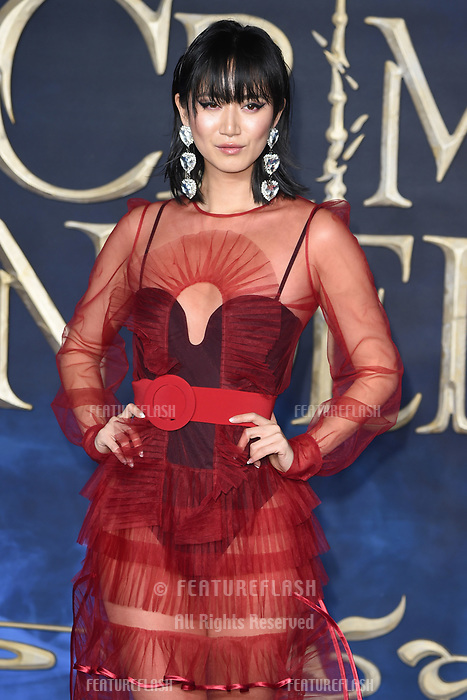 LONDON, UK. November 13, 2018: Betty Bachz at the &quot;Fantastic Beasts: The Crimes of Grindelwald&quot; premiere, Leicester Square, London.<br /> Picture: Steve Vas/Featureflash