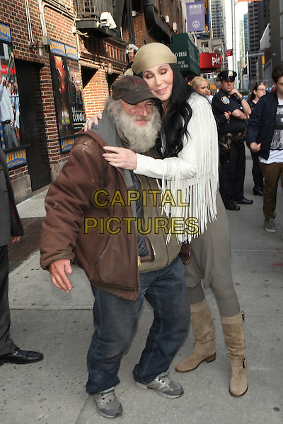 NEW YORK, NY - MAY 06: Radioman and Cher visit the Late Show With David Letterman on May 6, 2015 in New York City. <br /> CAP/MPI/COR<br /> &copy;COR/MPI/Capital Pictures