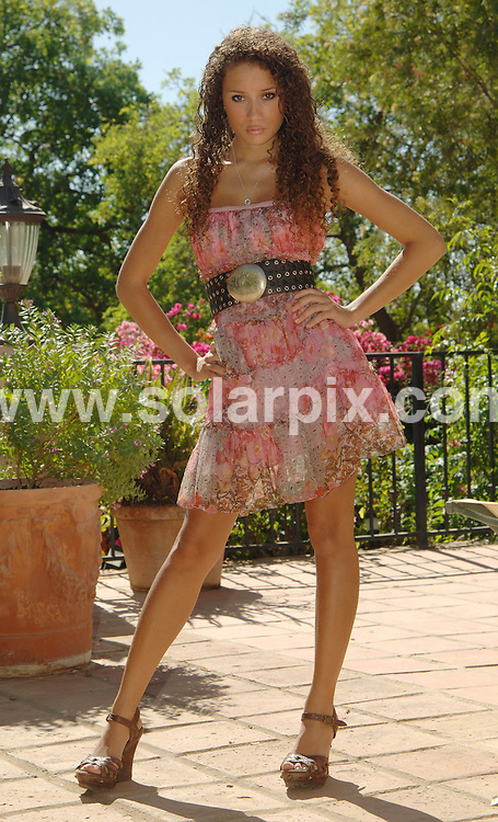 **ALL ROUND EXCLUSIVE PICTURES FROM SOLARPIX.COM**.**WORLDWIDE SYNDICATION RIGHTS**.The granddaughter of Shirley Bassey, Tatjana Novak, pictured in Marbella, Spain. 4 September 2009 ..18-year-old Tatjana Novak-Kimsey is the granddaughter of Shirley Bassey, and even though the world famous singer held Tatjana the toddler in her arms at the Royal Albert Hall in 1993, and had her by her side on a TV programme celebrating her life, she hasn't spoken or seen her granddaughter for over 16 years. ..Tatjana recently entered and appeared on the X-Factor TV talent show, where her famous lineage was revealed after researchers probed her background, although Tatjana says that she felt bamboozled into admitting that Shirley was her grandmother and that she didn't want Shirley to think that she had used her name to further her career...16 years ago the family break-up was caused when Tatjana's father (Shirley's adopted son Mark) and mother split up leaving Tatjana raised by her mother's side of the family. After 16 years apart, Tatjana was contacted recently by her father through facebook, saying that he would love to meet her. Only time will tell whether Shirley Bassey will ever see Tatjana again but the 18-year-old says that she doesn't feel any anger towards her grandmother and would love to see her one day...This pic: Tatjana Novak..JOB REF: 9876 IST  DATE: 04_09_2009.**MUST CREDIT SOLARPIX.COM OR DOUBLE FEE WILL BE CHARGED**.**MUST AGREE FEE BEFORE ONLINE USAGE**.**CALL US ON: +34 952 811 768 or LOW RATE FROM UK 0844 617 7637**