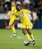 Emmanuel Ekpo of the Crew in action during the game against the Earthquakes at Buck Shaw Stadium in Santa Clara, California on June 2nd, 2010.  San Jose Earthquakes tied Columbus Crew, 2-2.