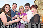 Contestants in the recent Come Dine With Me programme Audrey Logue Duggan, Stephen Leane, Melissa Perry, Sean Tracey and Dervil Fleming pictured during their fundraiser which was held in Nicks Restaurant, Killorglin on Sunday night.........................................................................
