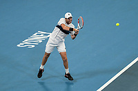 7th January 2020; Sydney Olympic Park Tennis Centre, Sydney, New South Wales, Australia; ATP Cup Australia, Sydney, Day 5; Great Britain versus Moldova; Cameron return to Alexander Cozbinov of Moldova - Editorial Use