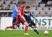 Fussball 2. Bundesliga:  Saison   2012/2013,    16. Spieltag  TSV 1860 Muenchen - SC Paderborn  27.11.2012 Christian Strohdiek (li, SC Paderborn 07) gegen Moritz Stoppelkamp (1860 Muenchen)