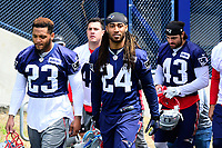 June 7, 2017: New England Patriots cornerback Stephon Gilmore (24) walks to practice at the New England Patriots mini camp held on the practice field at Gillette Stadium, in Foxborough, Massachusetts. Eric Canha/CSM