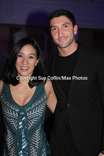 Michelle Kwan and Evan Lysacek - The 11th Annual Skating with the Stars Gala - a benefit gala for Figure Skating in Harlem - honoring Cicely Tyson (film, tv and stage actress and was on The Guiding Lignt) and Meryl Davis & Charlie White (Olympic Ice Dance Champions and Meryl winner on Dancing with the Stars) and hosted by Mary Wilson of the Supremes on April 11, 2016 on Park Avenue in New York City, New York with many Olympic Skaters and Celebrities. (Photo by Sue Coflin/Max Photos)