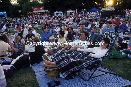 Open air concert. Marble Hill Richmond Surrey. UK