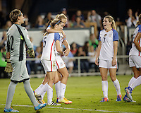 San Jose, CA -- November 10, 2016: The U.S. Women's National team defeat Romania 7-1 in an international friendly game at Avaya Stadium.