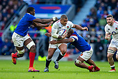 10th February 2019, Twickenham Stadium, London, England; Guinness Six Nations Rugby, England versus France; Kyle Sinckler of England is tackled